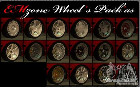Wheels Pack by EMZone pour GTA San Andreas