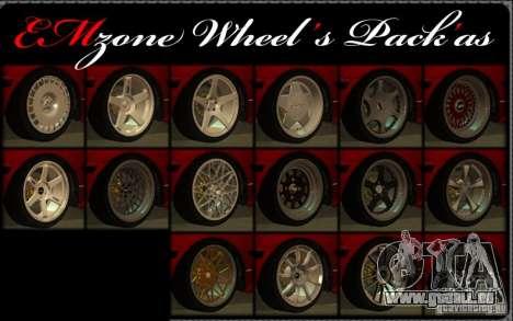 Wheels Pack by EMZone für GTA San Andreas