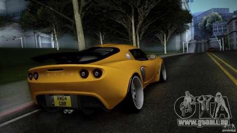 Lotus Exige Track Car pour GTA San Andreas sur la vue arrière gauche