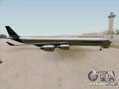 Airbus A-340-600 pour GTA San Andreas laissé vue