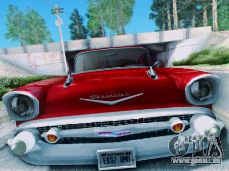 Chevrolet Bel Air 4-Door Sedan 1957 für GTA San Andreas rechten Ansicht