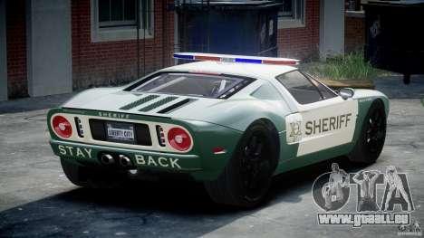 Ford GT1000 Hennessey Police 2006 [EPM][ELS] pour GTA 4 Vue arrière de la gauche