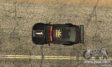 Mercedes-Benz E63 AMG DTM 2011 pour GTA San Andreas vue de dessous