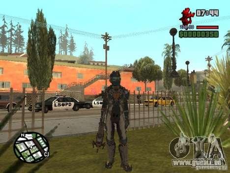 Das Kostüm der Spiele Dead Space 2 für GTA San Andreas dritten Screenshot