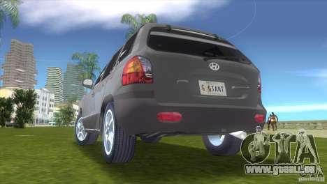 Hyundai Sante Fe pour une vue GTA Vice City de la droite