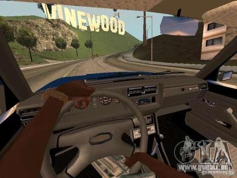 VAZ 2107 Bakou pour GTA San Andreas vue arrière