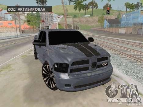 Dodge Ram R/T 2011 für GTA San Andreas Rückansicht