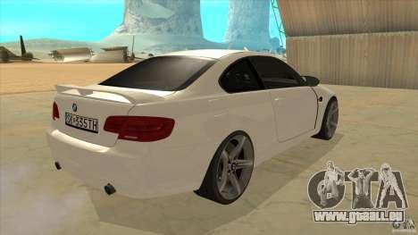 BMW 335i Coupe 2011 pour GTA San Andreas vue de droite