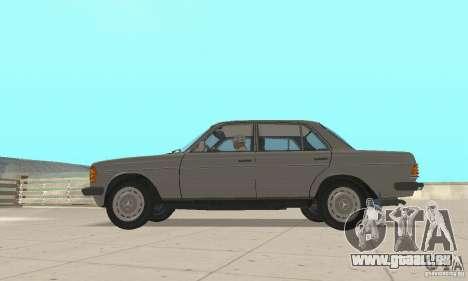 Mercedes-Benz 230 W123 pour GTA San Andreas vue de droite
