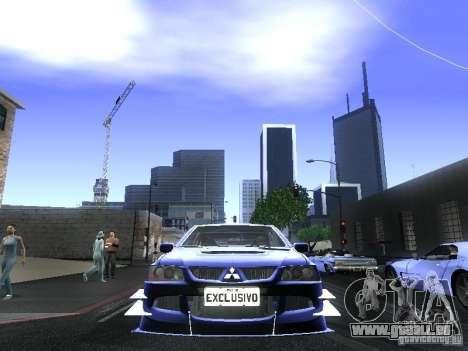 Mitsubishi Lancer Evolution VIII pour GTA San Andreas vue de droite