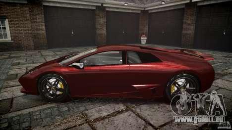 Lamborghini Murcielago v1.0b pour GTA 4 est une vue de l'intérieur
