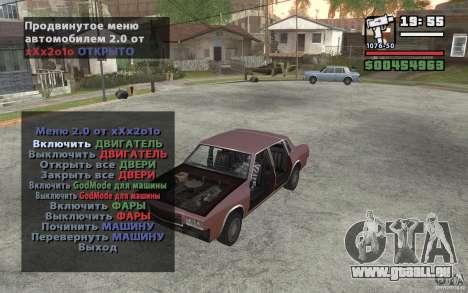 Extreme Car Control v.2.0 pour GTA San Andreas deuxième écran