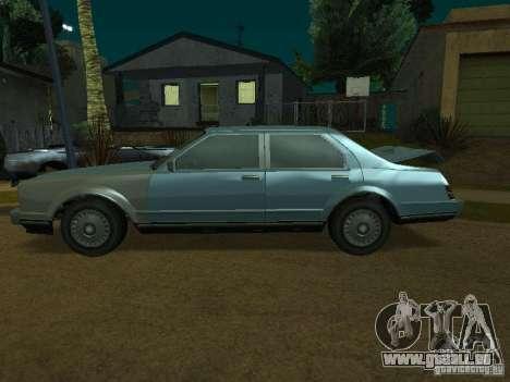 Les taxis romains de GTA4 pour GTA San Andreas sur la vue arrière gauche