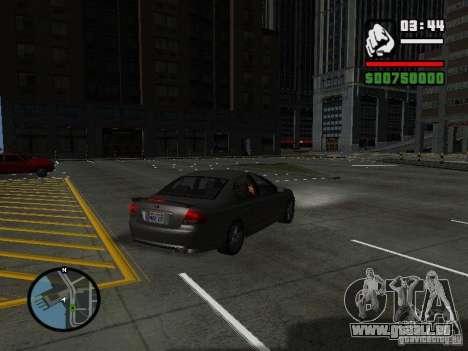 Ford Falcon XR8 pour GTA San Andreas laissé vue