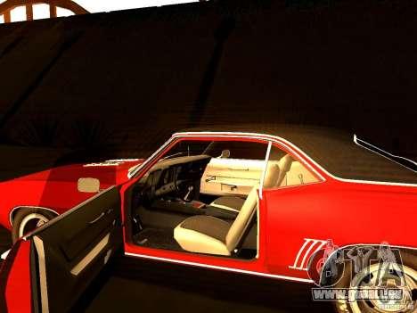 Chevrolet Camaro 1967 pour GTA San Andreas vue arrière
