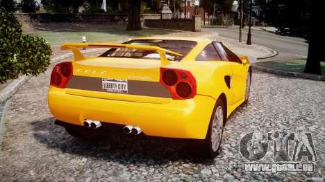 Lamborghini Cala pour GTA 4 Vue arrière de la gauche