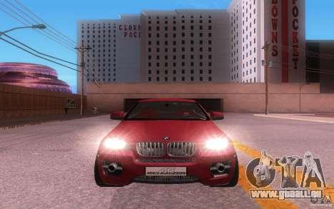 BMW X6 Tuning pour GTA San Andreas laissé vue