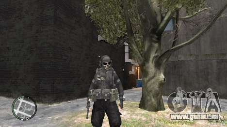 MW2 Ghost Diving Suit für GTA 4 dritte Screenshot