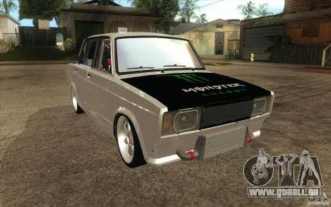 Dérive de Vaz Lada 2107 pour GTA San Andreas vue arrière