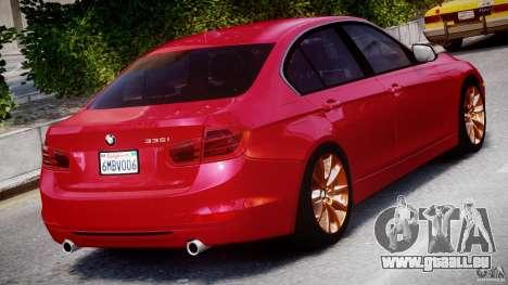 BMW 335i E30 2012 Sport Line v1.0 für GTA 4 obere Ansicht