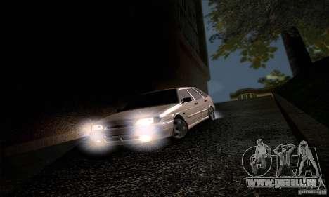 ВАЗ 2114 für GTA San Andreas Innenansicht