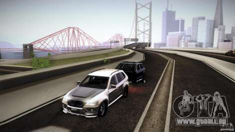 BMW X5 with Wagon BEAM Tuning pour GTA San Andreas vue de droite