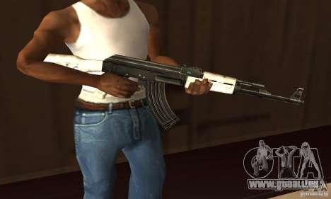 Bulletins d'enneigement AK47 (neige Ak47) pour GTA San Andreas deuxième écran