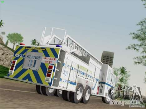 Pierce Puc Aerials. Bone County Fire & Ladder 79 für GTA San Andreas linke Ansicht