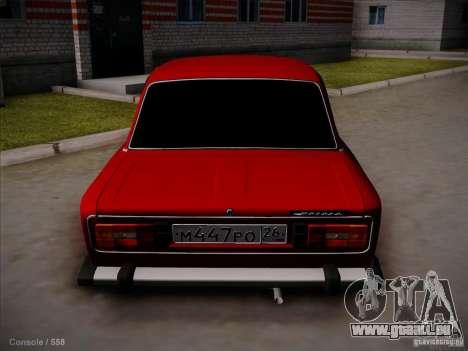 VAZ 2106 Piatigorsk pour GTA San Andreas sur la vue arrière gauche