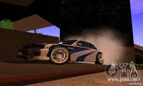 BMW M3 GTR pour GTA San Andreas vue de droite