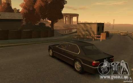 BMW 750iL (E38) v.3 pour GTA 4 Vue arrière de la gauche