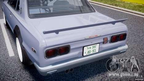 Nissan Skyline 2000 GT-R Drift Tuning für GTA 4 obere Ansicht