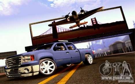 GMC Sierra 2011 pour GTA San Andreas sur la vue arrière gauche