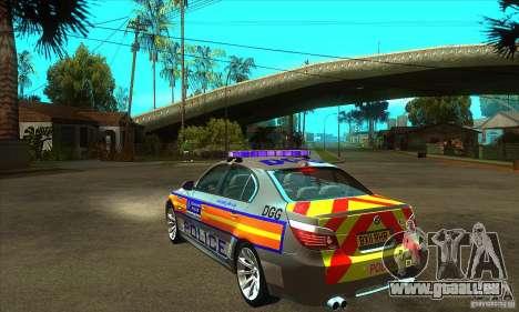 Metropolitan Police BMW 5 Series Saloon für GTA San Andreas zurück linke Ansicht