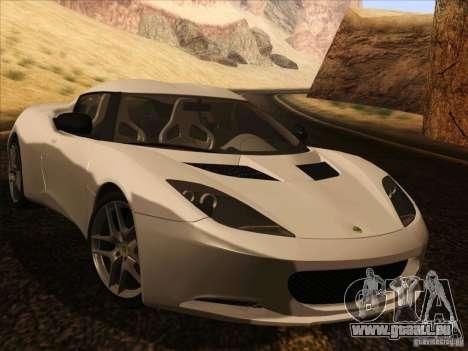 Lotus Evora pour GTA San Andreas vue arrière