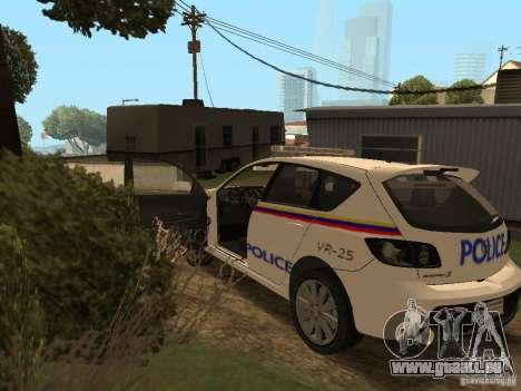 Mazda 3 Police für GTA San Andreas Innenansicht