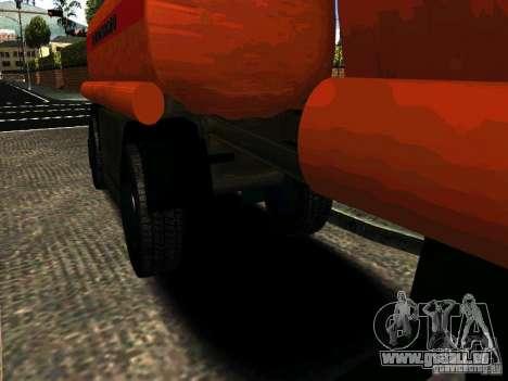 MAZ-533702 Anhänger LKW für GTA San Andreas linke Ansicht