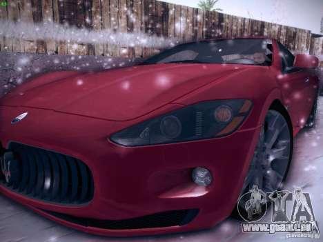 Maserati Gran Turismo S 2011 V2 pour GTA San Andreas laissé vue