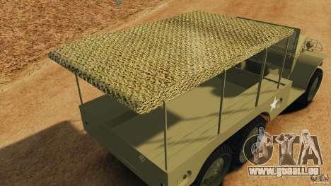 Dodge WC-62 3 Truck pour GTA 4 Salon