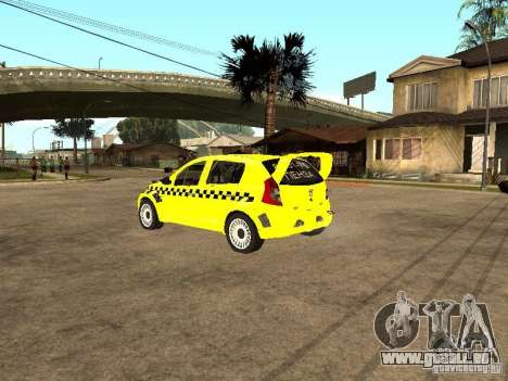 Dacia Sandero Speed Taxi pour GTA San Andreas laissé vue