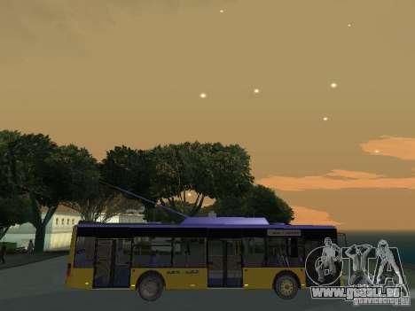 Trolleybus LAZ e-183 für GTA San Andreas Seitenansicht