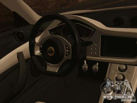 Lotus Evora pour GTA San Andreas vue de côté