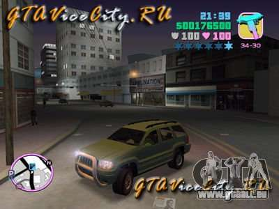 JEEP GRAND CHEROKIE pour GTA Vice City