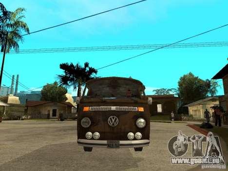 VW Transporter T2 1967 pour GTA San Andreas vue de droite