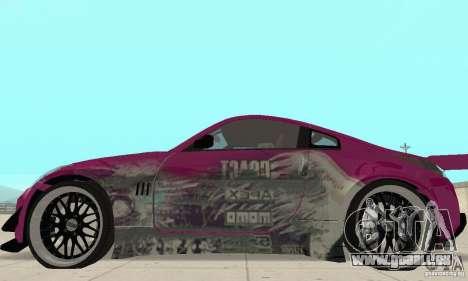 Nissan 350Z Tuning pour GTA San Andreas sur la vue arrière gauche