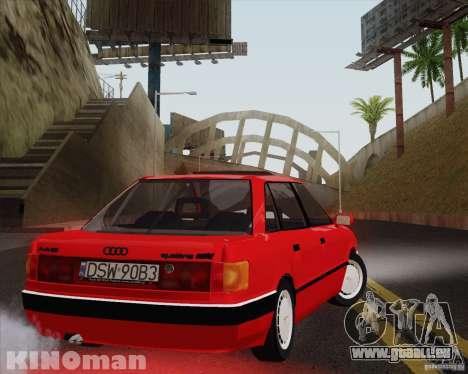 Audi 90 Quattro für GTA San Andreas linke Ansicht