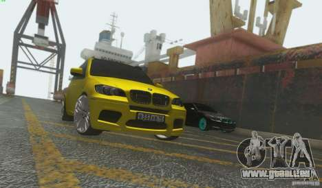 BMW X5M Gold Smotra v2.0 für GTA San Andreas linke Ansicht