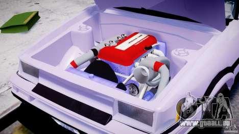Toyota AE86 TRUENO Initial D pour GTA 4 est une vue de l'intérieur