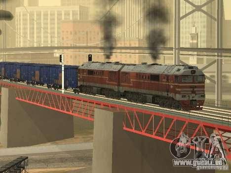 2TÈ121-023 pour GTA San Andreas vue intérieure