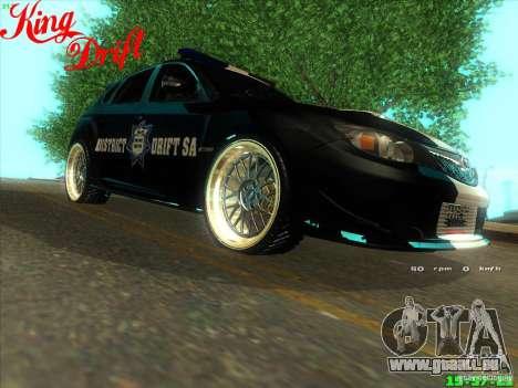 Subaru Impreza WRX Police für GTA San Andreas rechten Ansicht